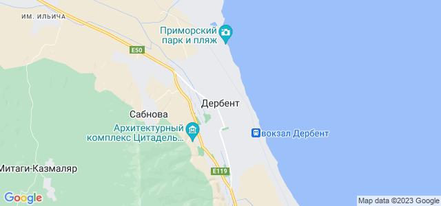 Карта где находиться дербент