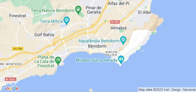 Бенидорм и аликанте на карте